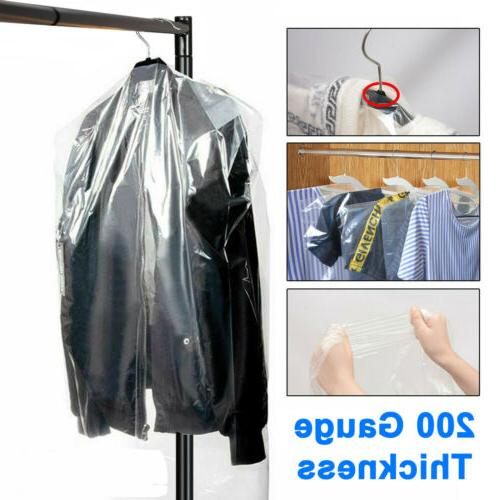 50 100x clear polythene garment suit cover