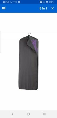 "Wally Bags 60"" Gown Length Garment Cover - Black Garment Bag"