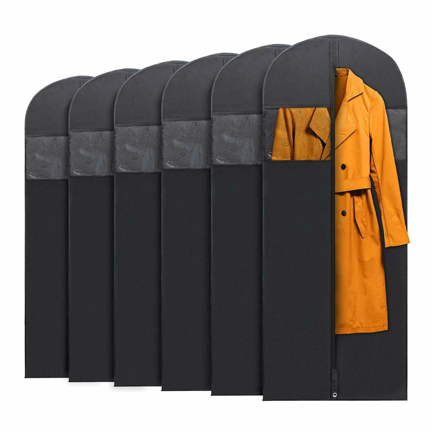 6x hanging garment bags for storage travel