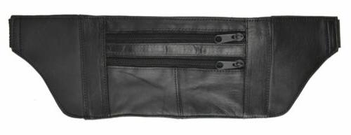 Black Genuine Leather Slim and Sleek Under Garment Money Bel