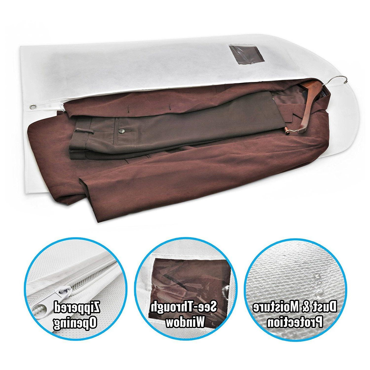 """Breathable 40"""" Garment Bags Storage 10 Pack"""