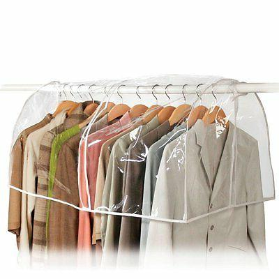 5x Clear Storage Garment Bag Closet Suit Vinyl Clothes Rack