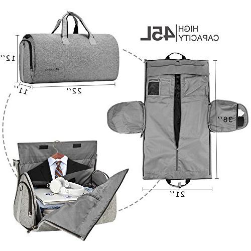 a0b8eba1e Convertible Garment with Shoulder Strap, on Duffel for Men Women 2 Suitcase  Suit