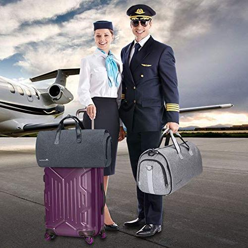 Convertible with Shoulder on for Men Women - 2 Suitcase