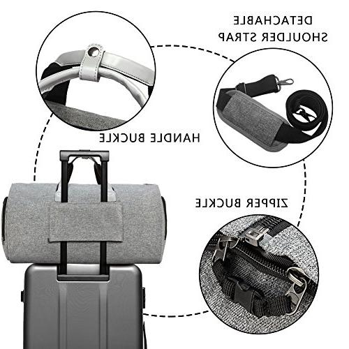 Convertible Shoulder Strap, on Garment Duffel Bag for Men 2 in 1 Suitcase Suit