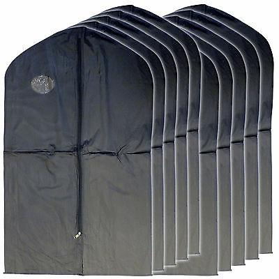 "New 20 PCS Garment Bag for suit dress black 40 "" transparent"