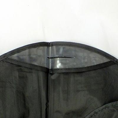 "New 20 Bag for suit, dress black 54 "" transparent window"