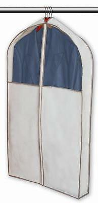 PRO-MART DAZZ Gusseted Suit Garment Bag, Beige