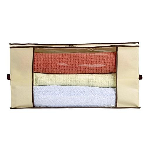 Storage Bag Breathable Material for Linen Storage Storage Sweater Storage Storage Transparent Window