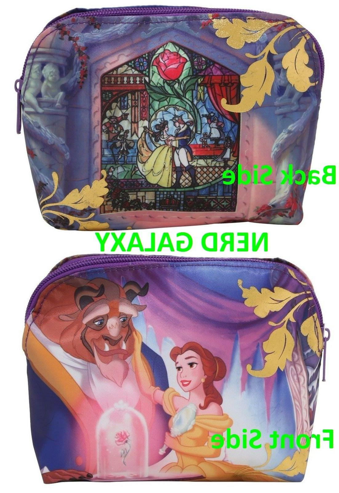 beauty and the beast cosmetic makeup bag