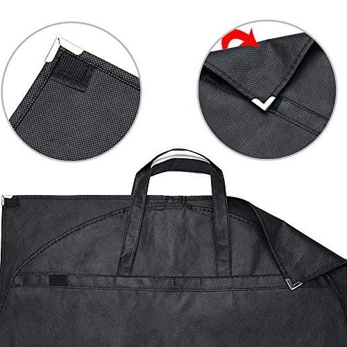 Garment Cover Carrier Bag Travel with Velcro & Handles, of