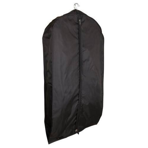 black showerproof nylon suit cover
