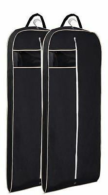 "MISSLO Breathable 54"" Suit Dress Black Garment Bag Gusseted,"