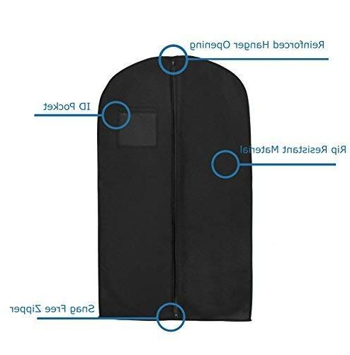 Bags for Non Woven Breathable Suit and Dress Clothes Bag Protector