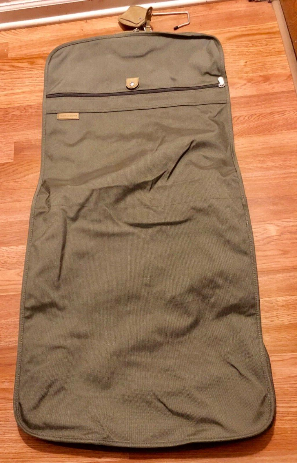 Briggs and Riley garment bag w/hook included.