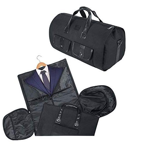 Carry-on Garment Bag Duffel Suit Bag Weekend Bag with for Women Black2