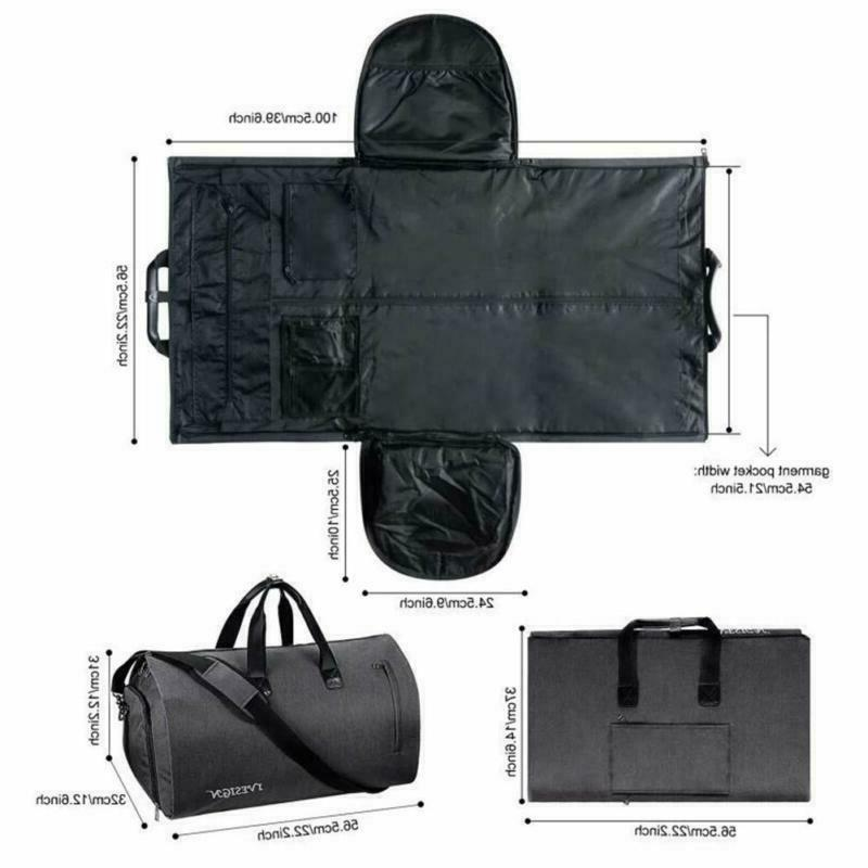 Carryon Travel Garment Convertible Duffle with Shoulder Strap Black