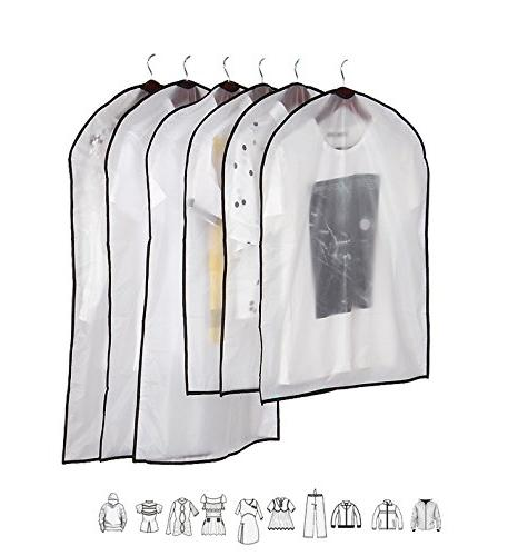 clear garment protector bags zippered