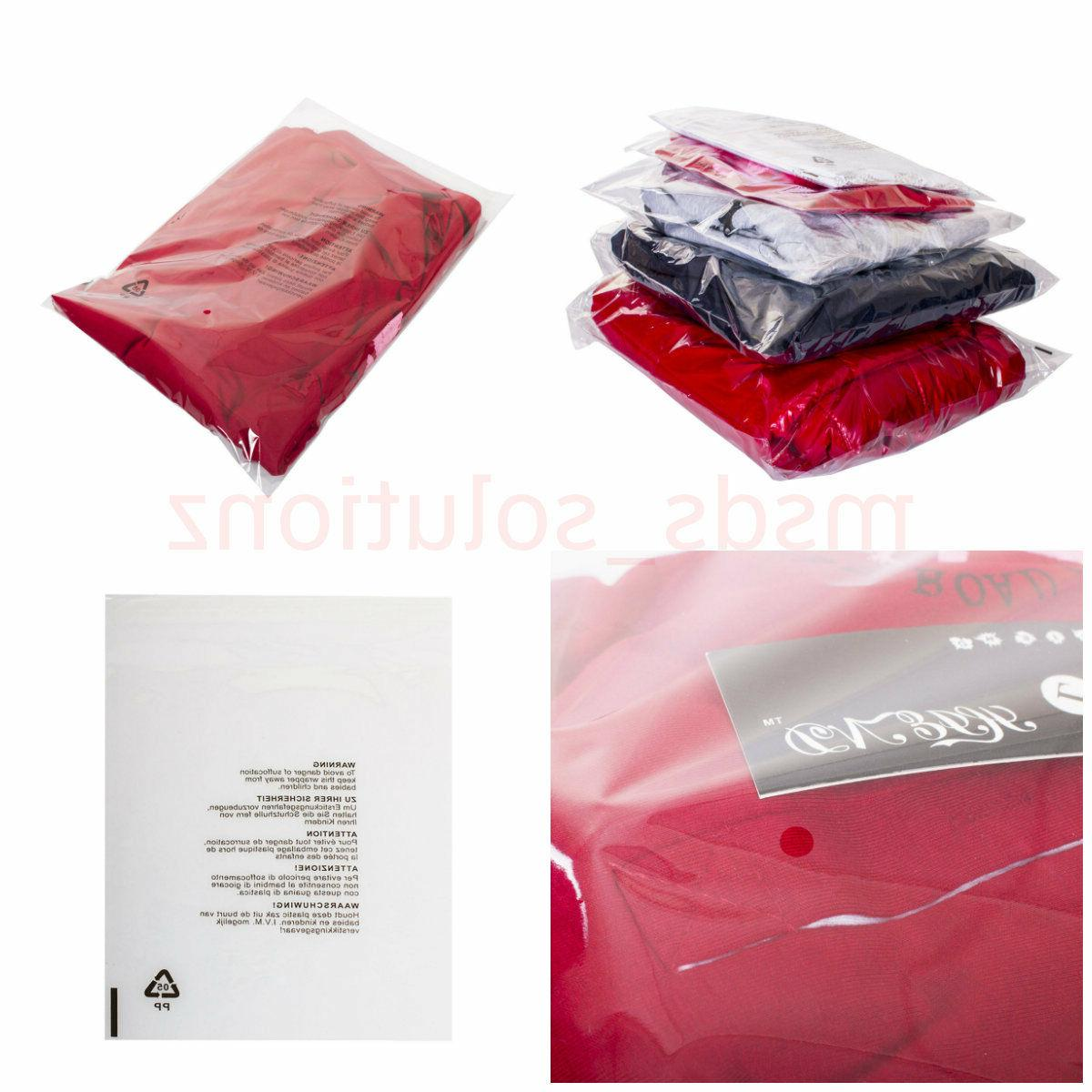 clear garments cellophane peel and seal packaging