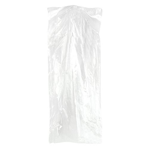 Hangerworld Pack of 50 Clear Gown Dress Garment Clothes Cover Bags - 80
