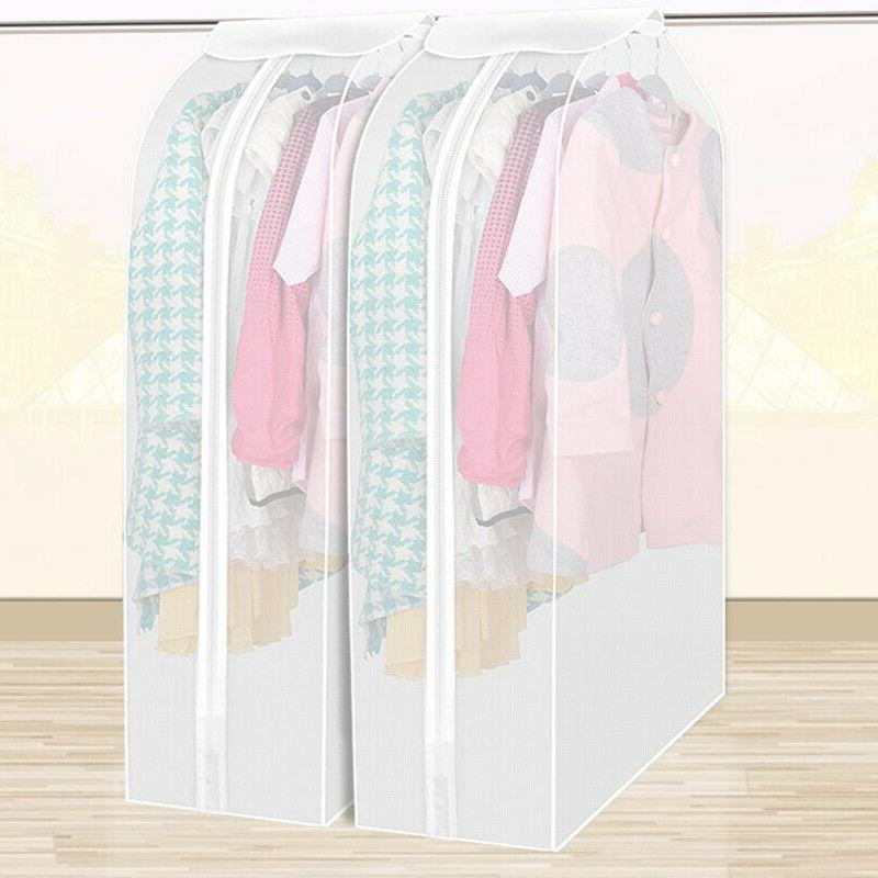 wardrobe closet storage bags transparent garment clothes