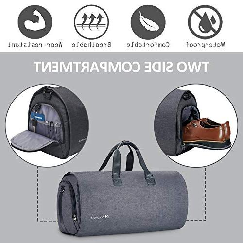Convertible with Shoulder Strap, on Garment for Men Women - 2 1 Hanging Suitcase Travel
