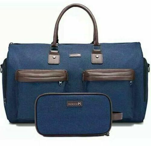 convertible garment bag with toiletry bag carry