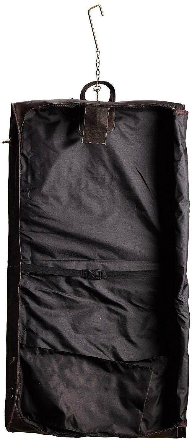 David King & 42 Inch Garment Bag Deluxe, Size 100% Leather