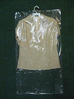 Lot of 15 DRY CLEANER POLY GARMENT GUSSETED PLASTIC BAGS. 21