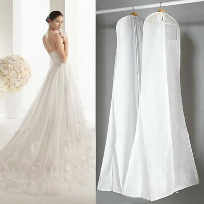 US 1X Dust Cover Bridal Gown Garment Cover Wedding Dress Sto