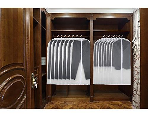 Garment Bag Clear, Bags for Clothes Suits Dress Pack of 6