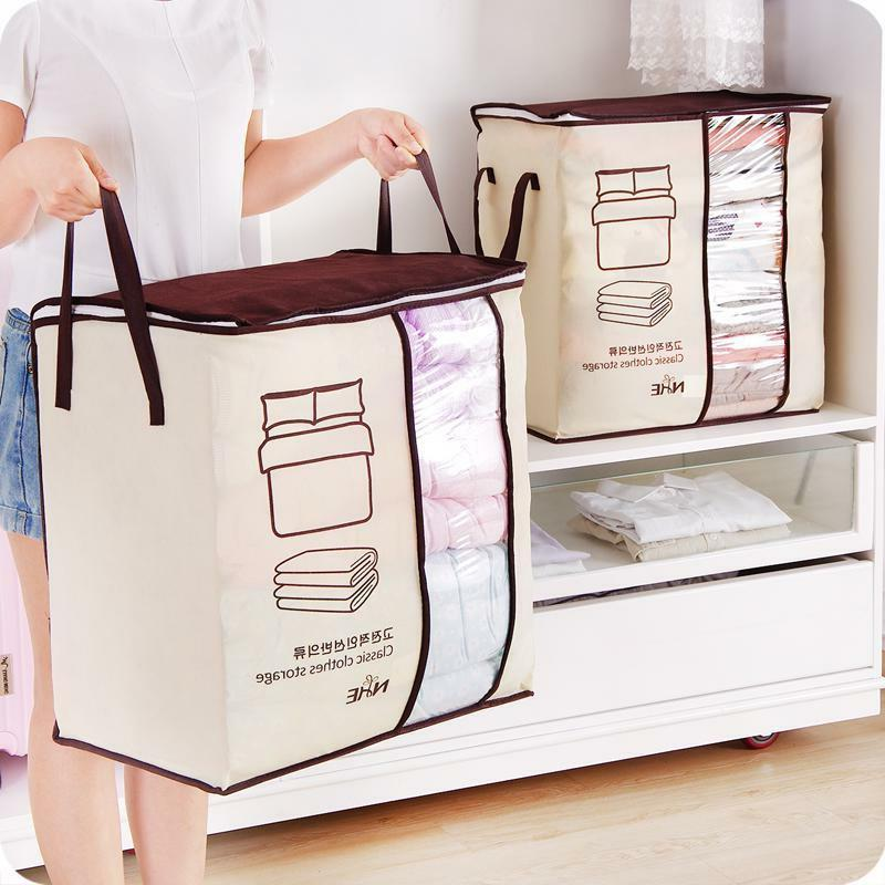 Foldable Storage Bag Blanket Clothes Garment Home Closet Org