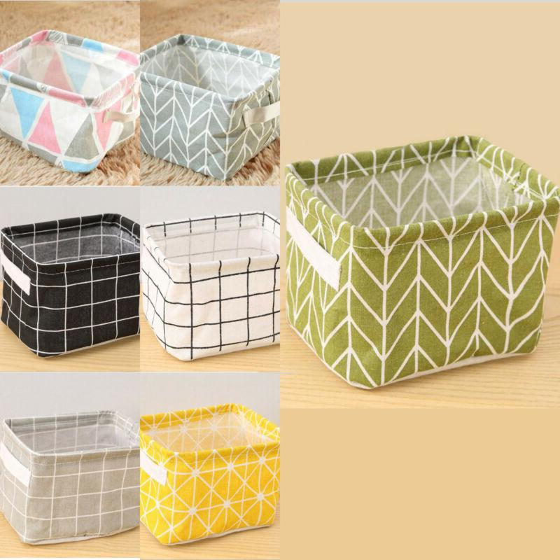 Foldable Garment Bin Laundry Basket Bag Storage Makeup Organizers