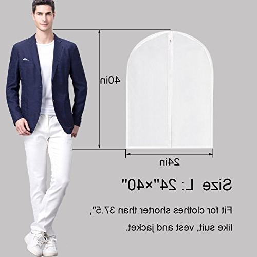 Suit Moth Garment Bags White for Storage Closet Pack
