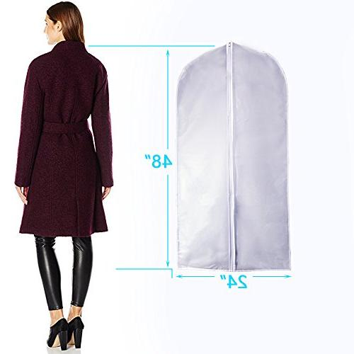 Garment Bags Cover for Storage Suits Dress Zippered Breathable Pack of