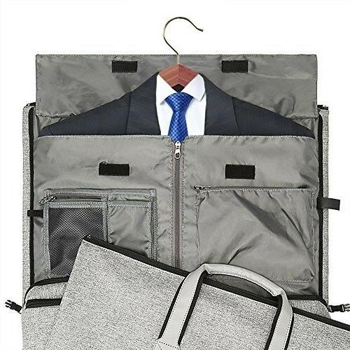 Garment Bag Hanging Suitcase Suit Travel on Duffel Bag Unisex- 2 in