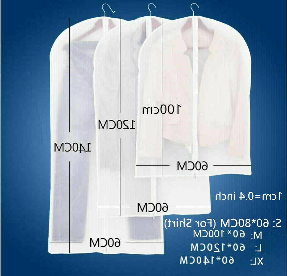Garment Storage Protector Plastic Clear Cloth Cover Suit/Dress