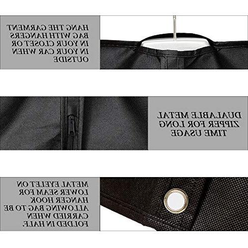 """Ezihom 42"""" Garment for Woven Fabric Breathable Bags Suits, Dresses, Dustproof, Card Travel Bags,"""