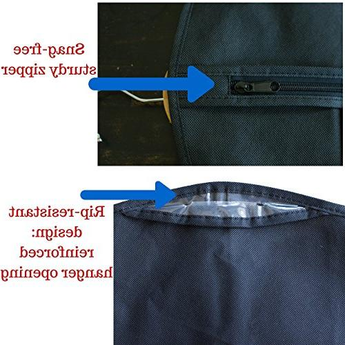 Garment Bag Covers Set 5 Dresses, Linens, Travel - Suit Bag with