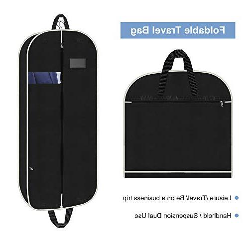 Suit Cover with Zipper and Cover Double Handles Suits,