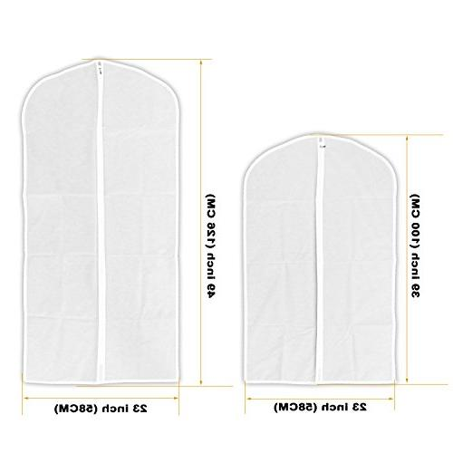 AOFUL Cover Bag, Translucent PEVA Clothes Dustproof Storage Pack of