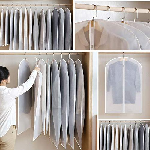 """Aufisi Pack of 7 Premium Quality Clothes Covers Full 24"""" Pcs x 24"""" Inch"""