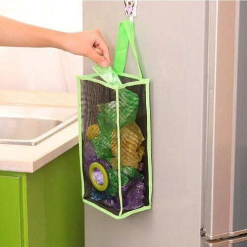 Kitchen Receive PVC Hanging Storage Bag Breathable Mesh Shop