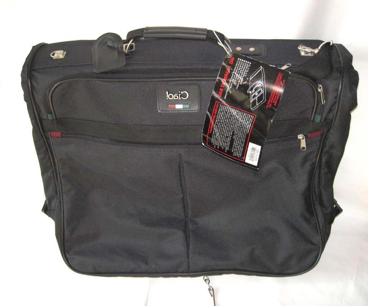 """CIAO ITALIA COLLECTION TRAVEL GARMENT LUGGAGE NEW 42"""""""