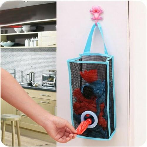 Kitchen Hanging PVC Shopping  Breathable Mesh Foldable Bags