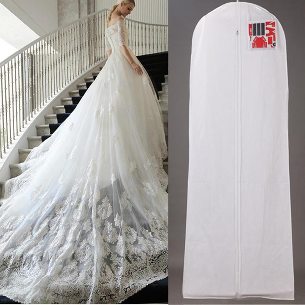 Large Bridal Long Wedding <font><b>Dress</b></font> Covers Storage <font><b>Bag</b></font> Wedding <font><b>Dresses</b></font>