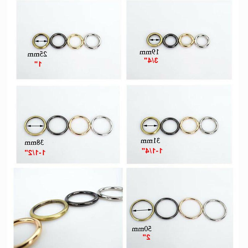 Open-end O Ring Buckle craft Bag Strap Hardware Lots sizes