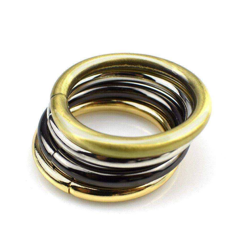open end metal o ring buckle leather