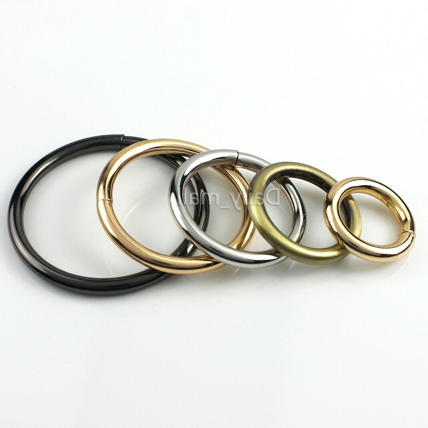 Solid Metal O-Ring Leather Garment Bag Strap Accessory