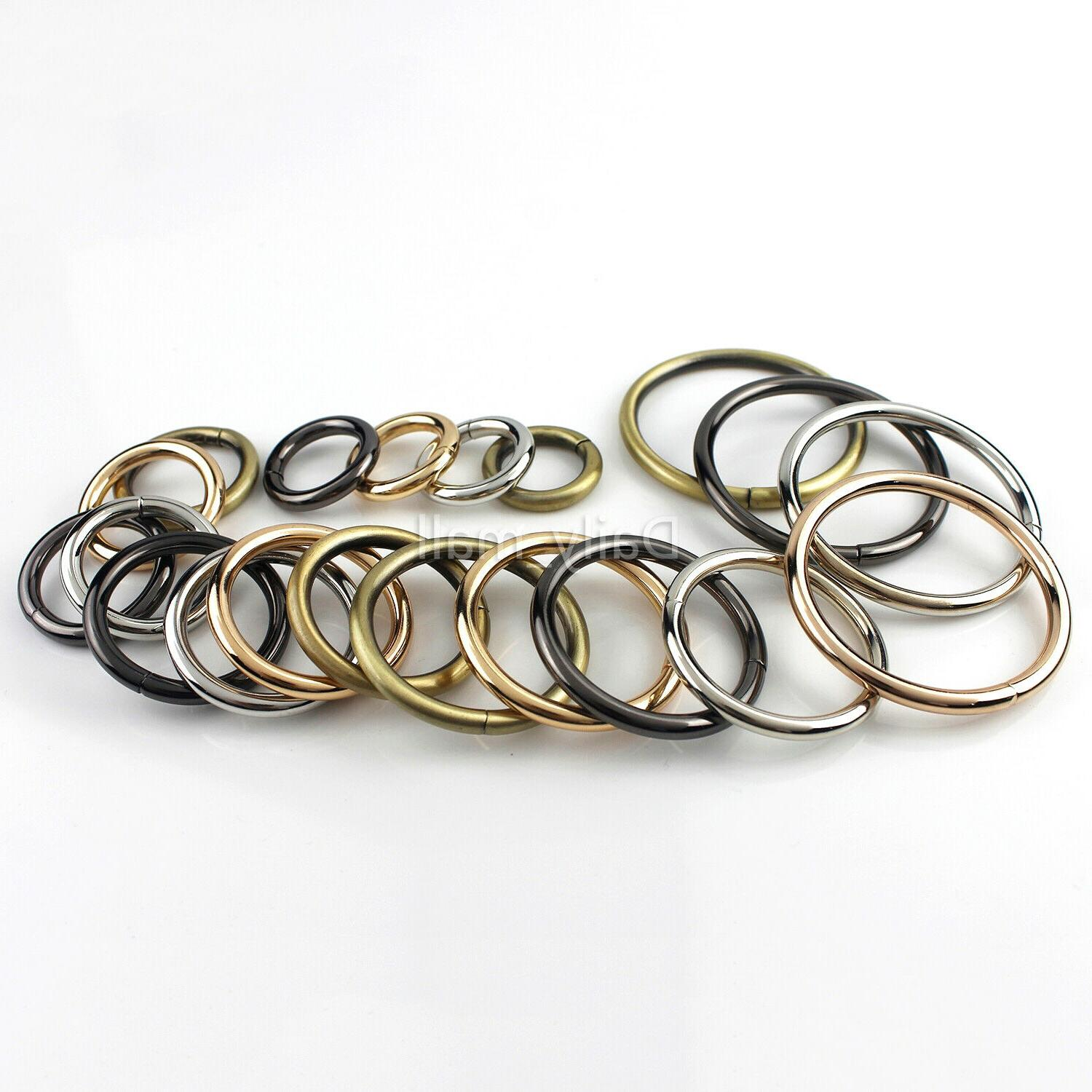 solid metal o ring buckle leather craft
